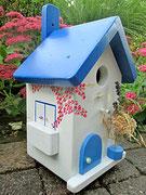 Houten Nestkastje , Grieks Nestkastje met Balkon , Details, Vogelhuisje bouwen ,  Grieks vogelhuisje met balkon , Huisjes details_2