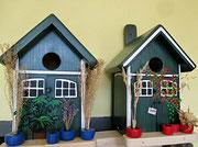 Houten Nestkastje, Nestkastje met Potten, Details, Vogelhuisje bouwen ,  vogelhuisje met potten_2