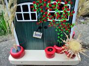 Houten Nestkastje, Nestkastje met Potten, Details, Vogelhuisje bouwen ,  vogelhuisje met potten_1