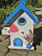 Houten Nestkastje , Grieks Nestkastje met Balkon , Details, Vogelhuisje bouwen ,  Grieks vogelhuisje met balkon , Huisjes details_4