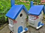 Houten Nestkastje , Grieks Nestkastje met Balkon , Details, Vogelhuisje bouwen ,  Grieks vogelhuisje met balkon , Huisjes details_13