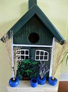 Houten Nestkastje, Nestkastje met Potten, Details, Vogelhuisje bouwen ,  vogelhuisje met potten_8