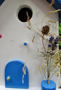 Houten Nestkastje , Grieks Nestkastje met Balkon , Details, Vogelhuisje bouwen ,  Grieks vogelhuisje met balkon , Huisjes details_11