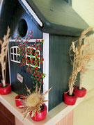 Houten Nestkastje, Nestkastje met Potten, Details, Vogelhuisje bouwen ,  vogelhuisje met potten_6