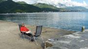 am Camp Zlokovic bei Bijela - Bucht von Kotor