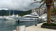 im Yachthafen von Tichat - Porto Montenegro -