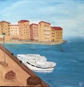 in the harbor
