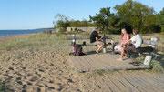 La plage de Saulkrasti, station balnéaire au nord de Riga
