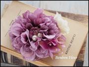 FC-001H1ボンボンダリア+紫陽花オフホワイトオーキッド*ライトラベンダー2670円