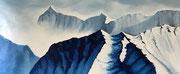 l'odeur du ciel, 2017, huile sur toile, 60 x 146 cm