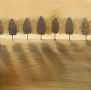 murmures - huile sur toile, 80 x 80 cm - 2013