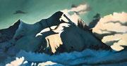 Plénitude, 2017, huile sur toile, 96 x 50 cm Sfr. 1'200.-