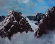 above the clouds, 2016, huile sur toile, 110 x 96 cm Sfr. 2'600.-