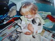 Unsere Nichte Veronika,damals gut 2 Jahre alt.Am liebsten wäre sie für die Zeit,bei uns eingezogen.