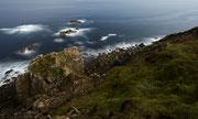 Estaca de Bares, A Coruña. Fotografía con luna llena