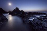 Costa Vicentina, Portugal. Fotografía con luna