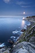 Estaca de Bares, A Coruña. Salida de luna