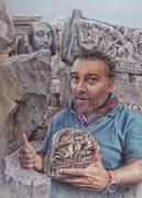 Haluk, in Stein gemeisselt - Türkei