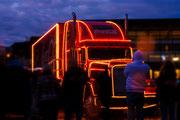 """"""" Route to the City """" ... erstmals im Jahr 2013 machte auch der Coca - Cola Truck während seiner Tour einen Abstecher zum Hückelhovener Weihnachtsmarkt."""