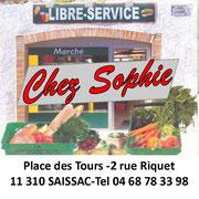 Chez sophie libre service saissac 11310