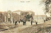 La première gare de Busigny inaugurée le 21.10.1855. (Coll. MB)
