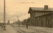 La première gare du Cambrésis (une seule toiture). (Coll. part.)