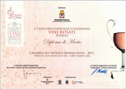 Donna Rosa 2013 Diploma di Merito 3° Concorso enologico rosati d'Italia Regione Puglia 2014