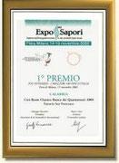 """EXPO DEI SAPORI 2008 - I° PREMIO AL """"RONCO DEI QUATTROVENTI"""" - FATTORIA SAN FRANCESCO"""