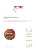 Ronco dei Quattroventi 2010 - MEDAGLIA DI BRONZO - DECANTER WORLD WINE AWARDS 2015 - GRAN BRETAGNA