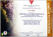 5 Medaglie d'Oro al 54° Concorso Nazionale dei Vini Doc, Docg e Igt - Mostra Nazionale Vini di Pramaggiore (VE)