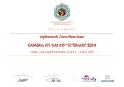 Settemari 2013 - Diploma di Gran Menzione - Vinitaly 2015