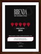 """BIBENDA 2014 - 5 GRAPPOLI AL """"RONCO DEI QUATTROVENTI 2011"""" DI FATTORIA SAN FRANCESCO"""