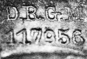 Deutsches Reich Gebrauchsmuster DRGM 117956 galt ab 1899