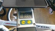 サドルバッグにCO2ボンベ込みで8.33kg
