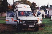 Rast und Schlafplatz im Camp von Fitzroy Crossing (WA)