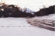 Schnee in den Clarkes Hills, es wurde empfindlich kalt