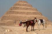 König Snofru, der Vater des berühmten Cheops, ließ um ca. 2600 v. Chr. die erste Pyramide in Dahschur, die so genannte Knickpyramide, errichten.