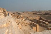 Detailansicht des Pyramidenterrains von Sakkara