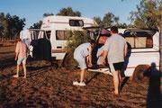 Vorbereitung zum Campen am Kalbarri NP