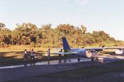 Kurz vor dem Start zum Rundflug über den Great Sandy NP