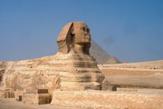 Die Sphinx, Wissenschaftler vermuten, dass das Antlitz der Sphinx mit dem des Königs Chefren identisch ist.