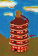 五重塔の土鈴(ごじゅうのとうのどれい)【室生寺/奈良県、宇陀市】