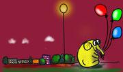 Olo mit Ballon
