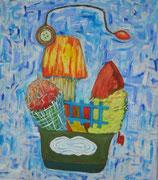 Über den Wolken    75x85, 2005