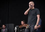 Festivalmoderator Lukie Wyniger (srf 3, Reggae Special)