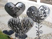 Gartendeko Herzen