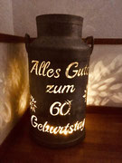 """Milchkanne """" Zum Geburtstag"""""""