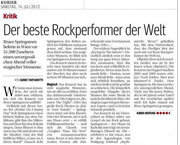12.07.2012 - Bruce Springsteen & The E-Street-Band (Quelle: kurier.at)