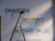 Worte an der Wand, 2010 Galerie Vor Ort, Wien