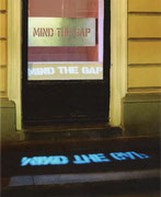 Mind the Gap - Lichtinstallation mit Christa Zauner, 2001 Galerie Ariadne, Wien